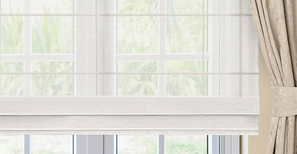 A stunning collection of sheer roman blinds in six versatile colours to add privacy to any space