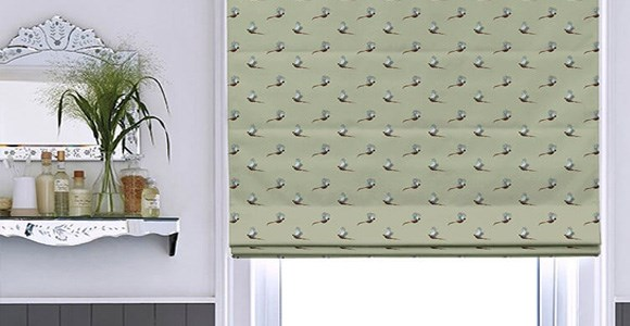 A collection of beautiful roman blinds featuring Sophie Allport's charming nature inspired designs