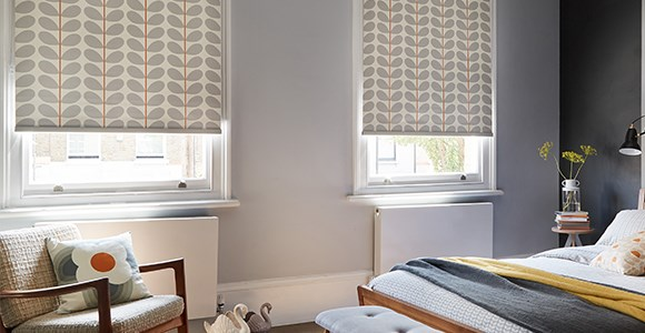 Stylish blinds in iconic prints featuring the work of designers such as Orla Kiely and Lorna Syson