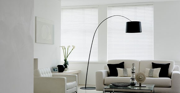 Wood Electric Venetian Blinds in a beautiful selection of natural wood and painted finishes