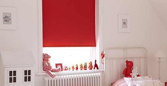 A collection of motorised blackout roller blinds in 31 plain dyed colours from just £105.