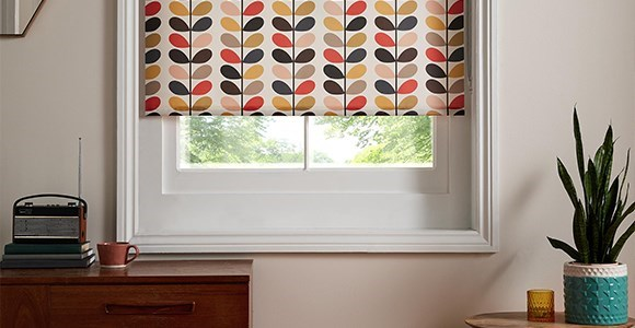 A stunning collection of Orla Kiely print electric blinds, hand made and motorised here in the UK