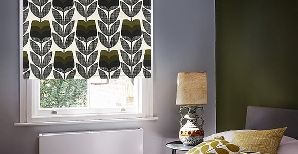 A stunning collection of retro Orla Kiely print electric roller blinds, hand made here in the UK
