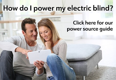 How do I power my electric blind?