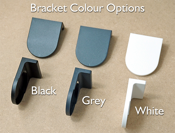 Bracket Colour Options for Roller Blinds