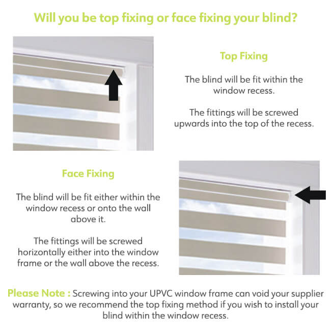Fitting Position for Day and Night Blinds