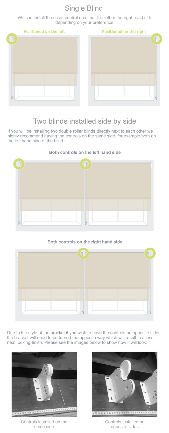 Double Roller Blind Control Side