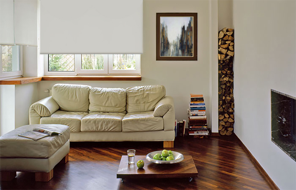 A picture of Essential Electric Blinds Ivory