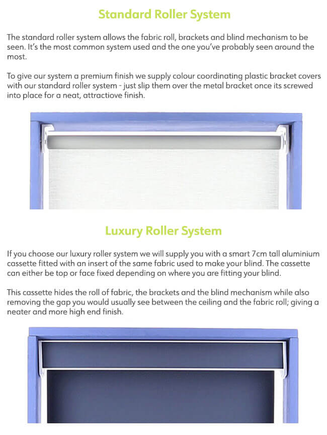 Which roller blind system should I choose?