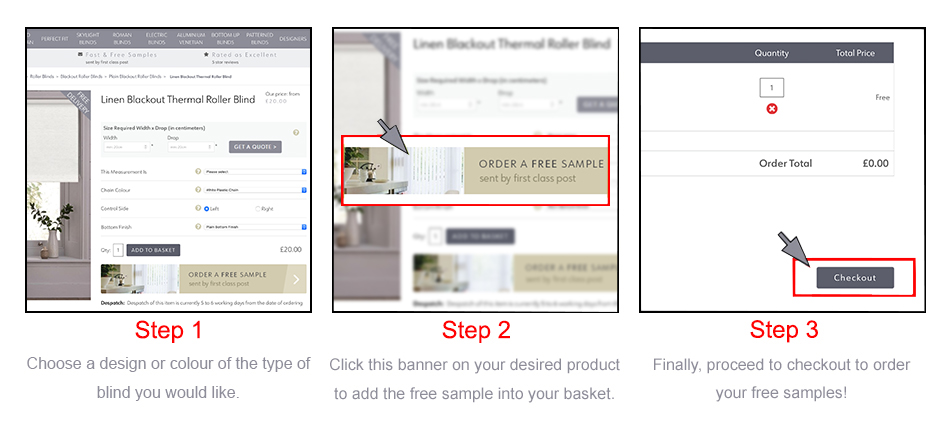How to order free samples