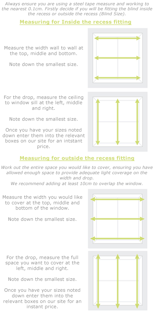 How to measure for wood venetian blinds