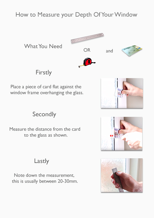 How to measure the depth of your window