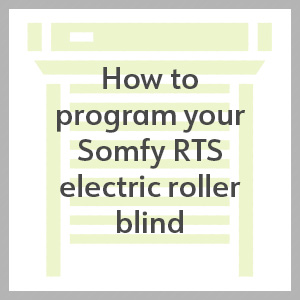 how to program a somfy rts electric roller blind