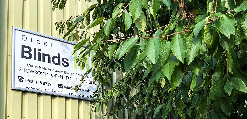 Order Blinds Factory Sign