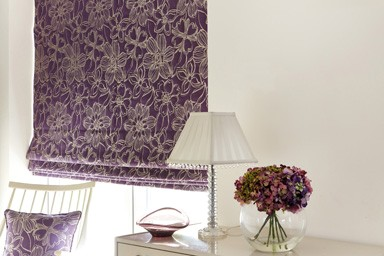 Decorating with Roman blinds