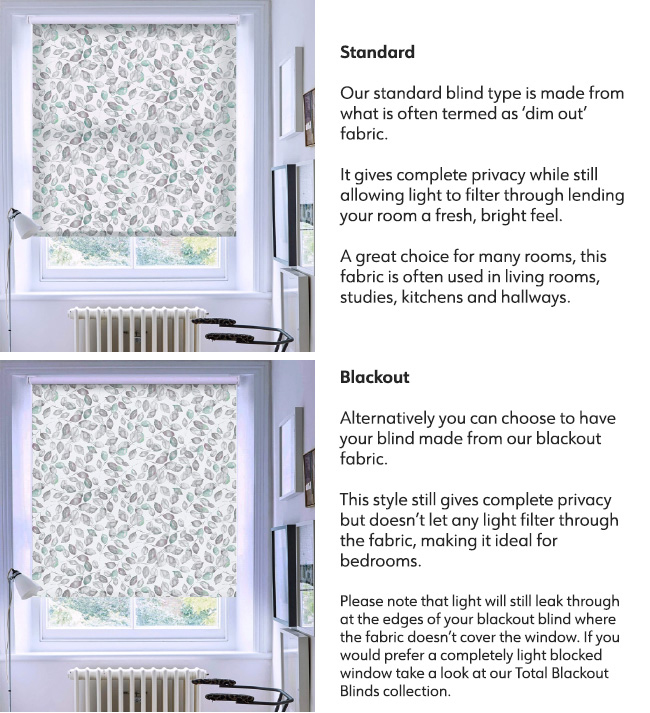 XL Blind Fabric Options