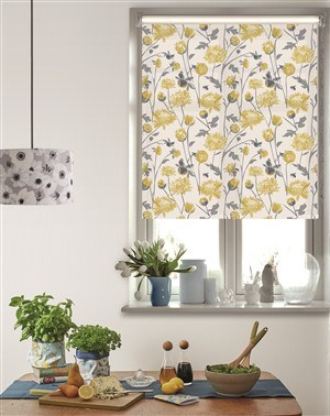Chrysanthemum Roller Blind by Lorna Syson