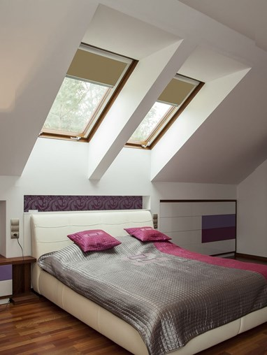 Classic Toffee Crunch Blackout Skylight Blind To Fit Dakstra Windows