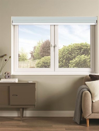 Light Grey Luxury Double Roller Blind