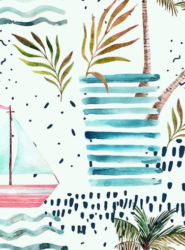 Palm Tree Dreams Roller Blind