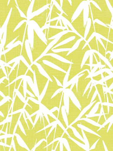 Bamboo Shadows Lime Floral Roller Blind