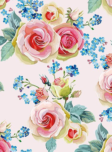 English Rose Floral Roller Blind