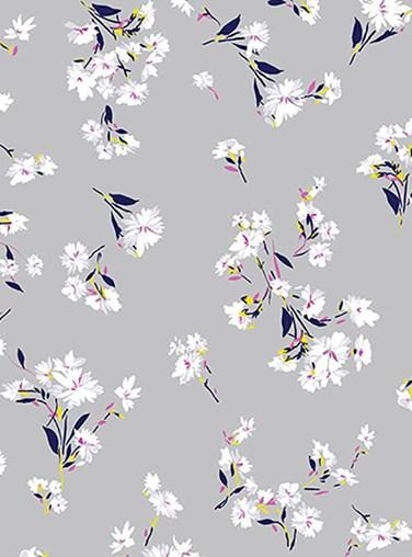 Falling Flowers Floral Roller Blind