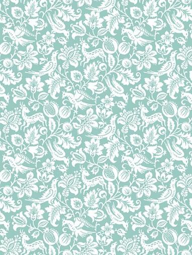 Heritage Blue Floral Roller Blind