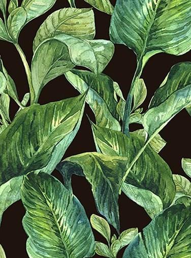 Jungle Leaves Night Floral Roller Blind