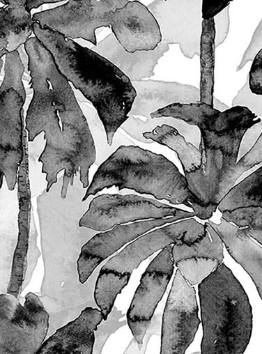 Mono Palms Floral Roller Blind