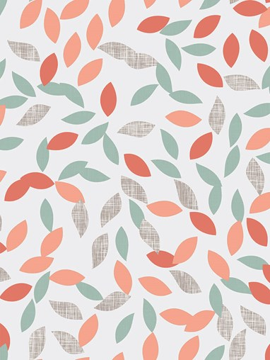 Shadow Petals Peach Floral Roller Blind