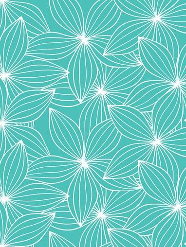 Starflower Aqua Floral Roller Blind