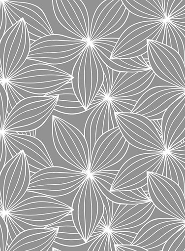 Starflower Mid Grey Floral Roller Blind