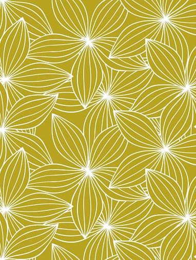 Starflower Mustard Floral Roller Blind