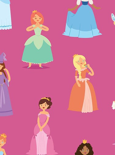 Princess Parade Blackout Roller Blind