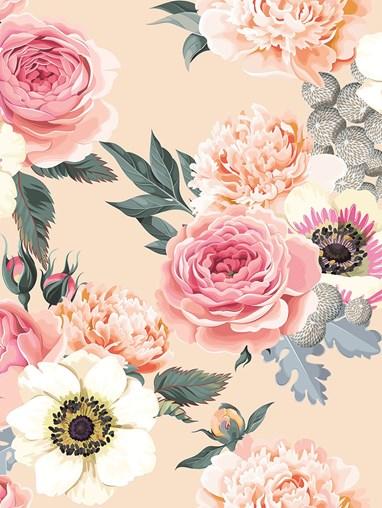 Flower Friends Floral Roller Blind