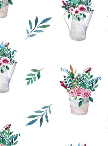 Posy Pots Floral Roller Blind