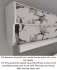 Cream and White Electric Double Roller Blind