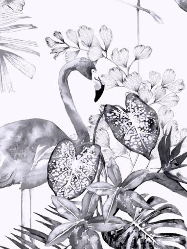 Flamingo Tropics Mono Blackout Electric Roller Blind