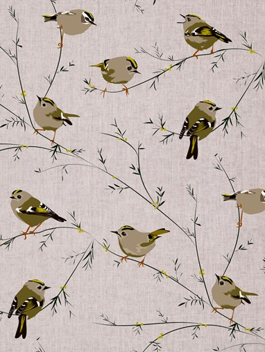 Goldcrest Roller Blind by Lorna Syson