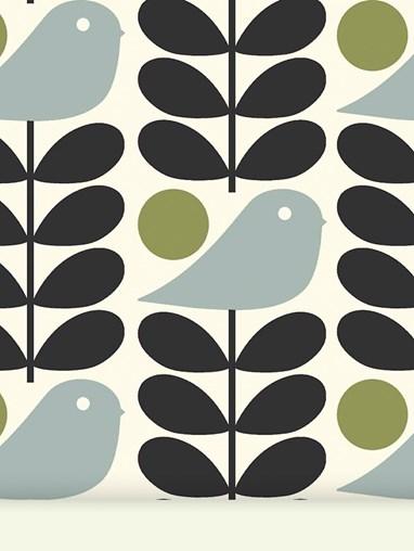Orla Kiely Early Bird Granite Roller Blind