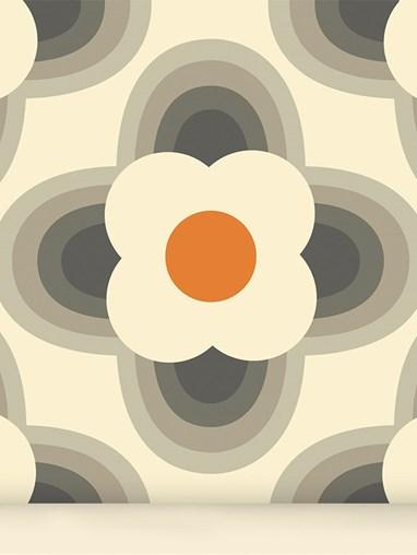 Orla Kiely Striped Petal Orange Roller Blind