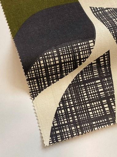 Orla Kiely Rosebud Moss Soft Fabric Roller Blind