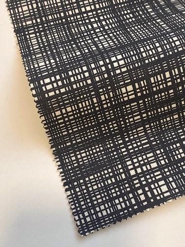 Orla Kiely Scribble Gun Metal Soft Fabric Roller Blind