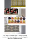 Orla Kiely Two Colour Stem Warm Grey Roller Blind