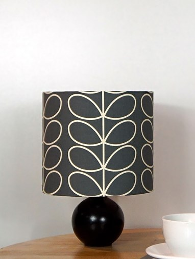 Orla Kiely Linear Stem Cool Grey Lampshade