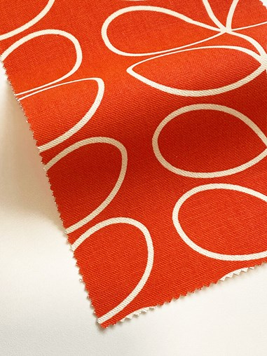 Orla Kiely Linear Stem Tomato Electric Roman Blind