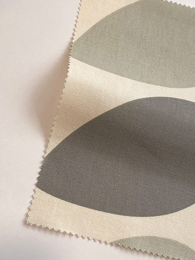 Orla Kiely Multi Stem Warm Grey Electric Roman Blind