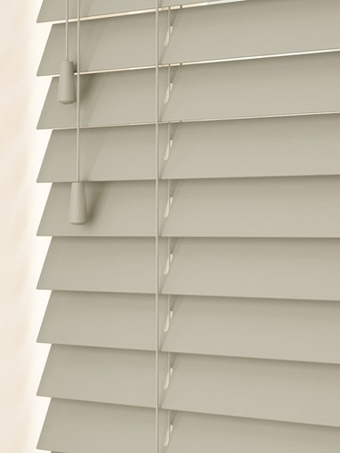 Wolf Grey Real Wood Venetian Blind