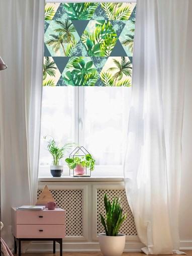 Tropical Tiles Roller Blind